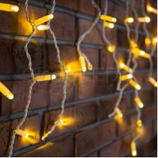 Гирлянда Айсикл (бахрома) светодиодный, 2,4 х 0,6 м, белый провод, 220В, диоды тепло-белые, NEON-NIGHT