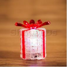 """Фигура светодиодная на подставке """"Новогодний подарок"""", RGB"""
