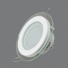 705R-6W-3000K Светильник встраиваемый,круглый,со стеклом,LED,6W